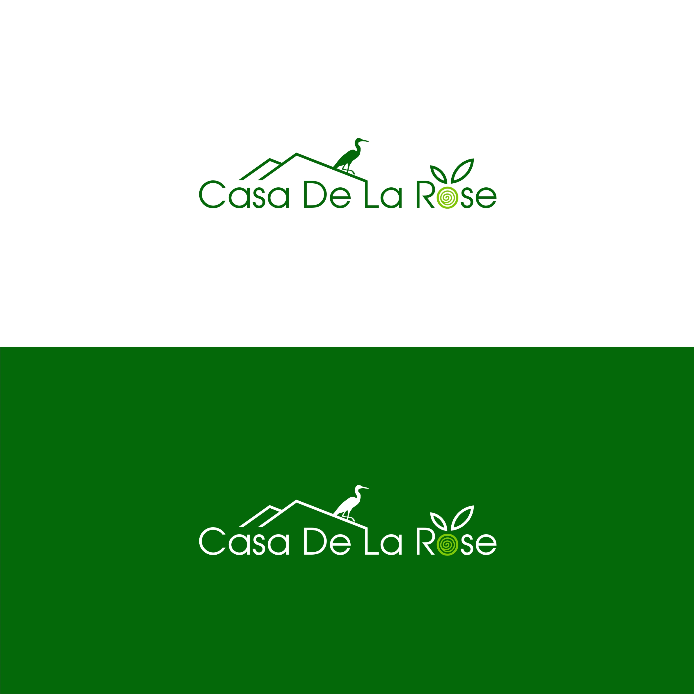 Логотип + Фирменный знак для элитного поселка Casa De La Rosa фото f_0735cd813ef776ba.jpg