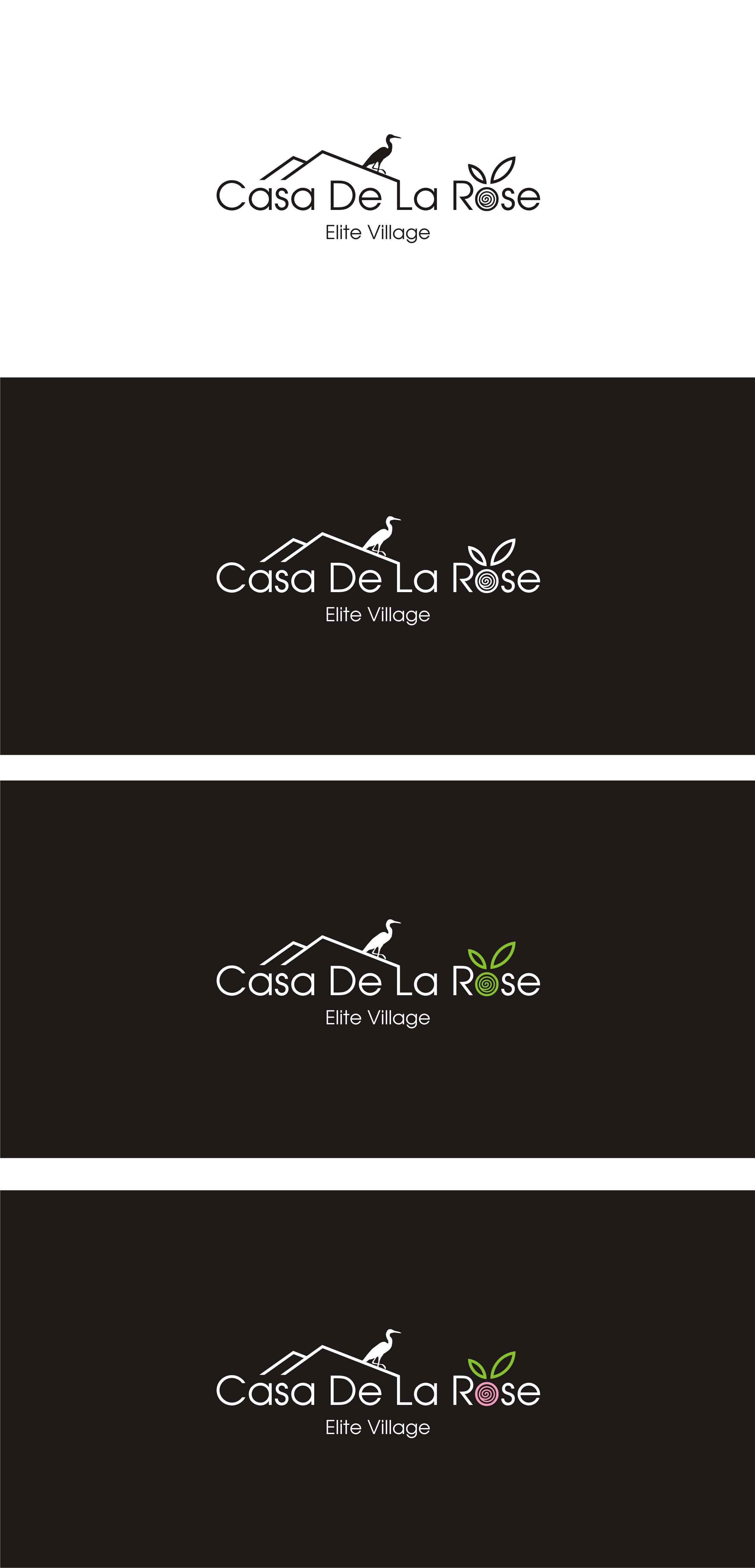 Логотип + Фирменный знак для элитного поселка Casa De La Rosa фото f_7045cd815bb6e702.jpg
