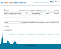 "Сайт турфирмы ""See you in St.Petersburg"""