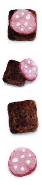 Магнит на холодильник «Бутерброд»