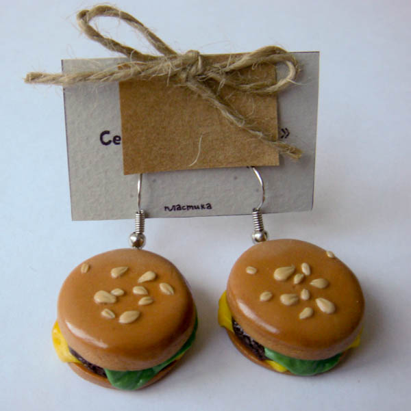 Серьги «Гамбургеры»