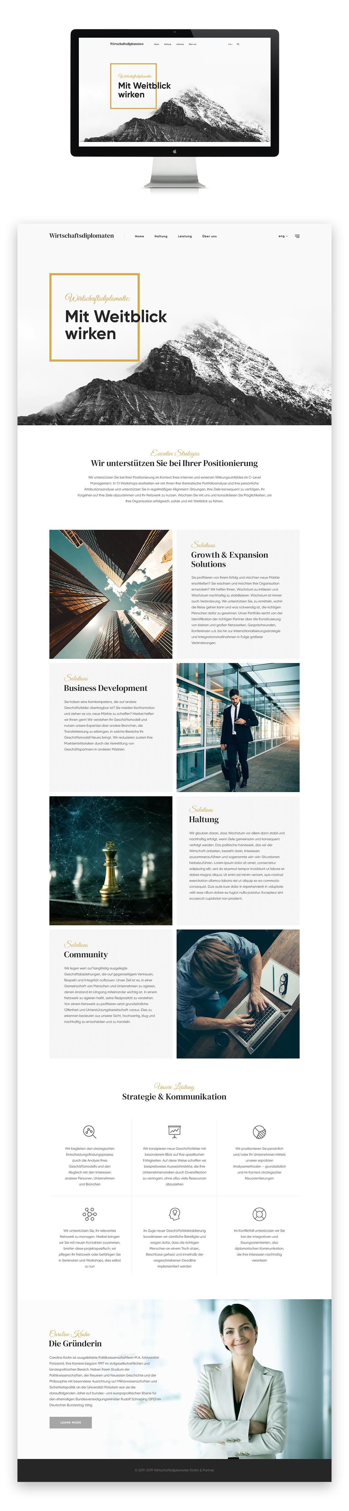 "Landing page для компании, помогающей улучшить ваш бизнес ""Krohn"""