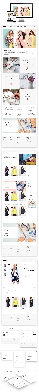"""Адаптивный дизайн магазина одежды """"Merliontex"""""""