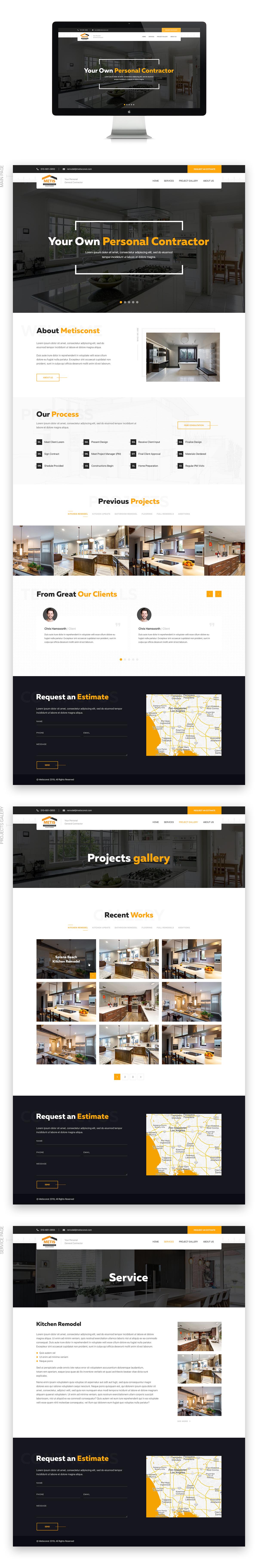 """Разработка сайта для студии по дизайну и ремонту недвижимости """"Metis"""""""