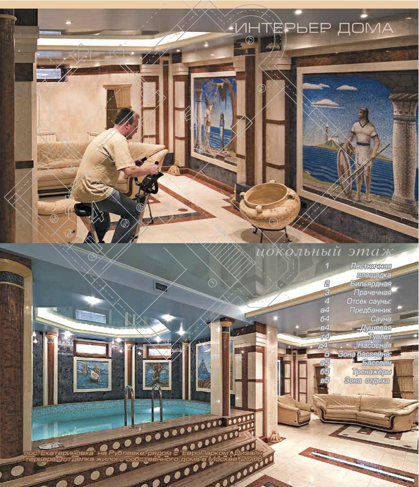 Приватный жилой дом в Крылатском_цокольный этаж