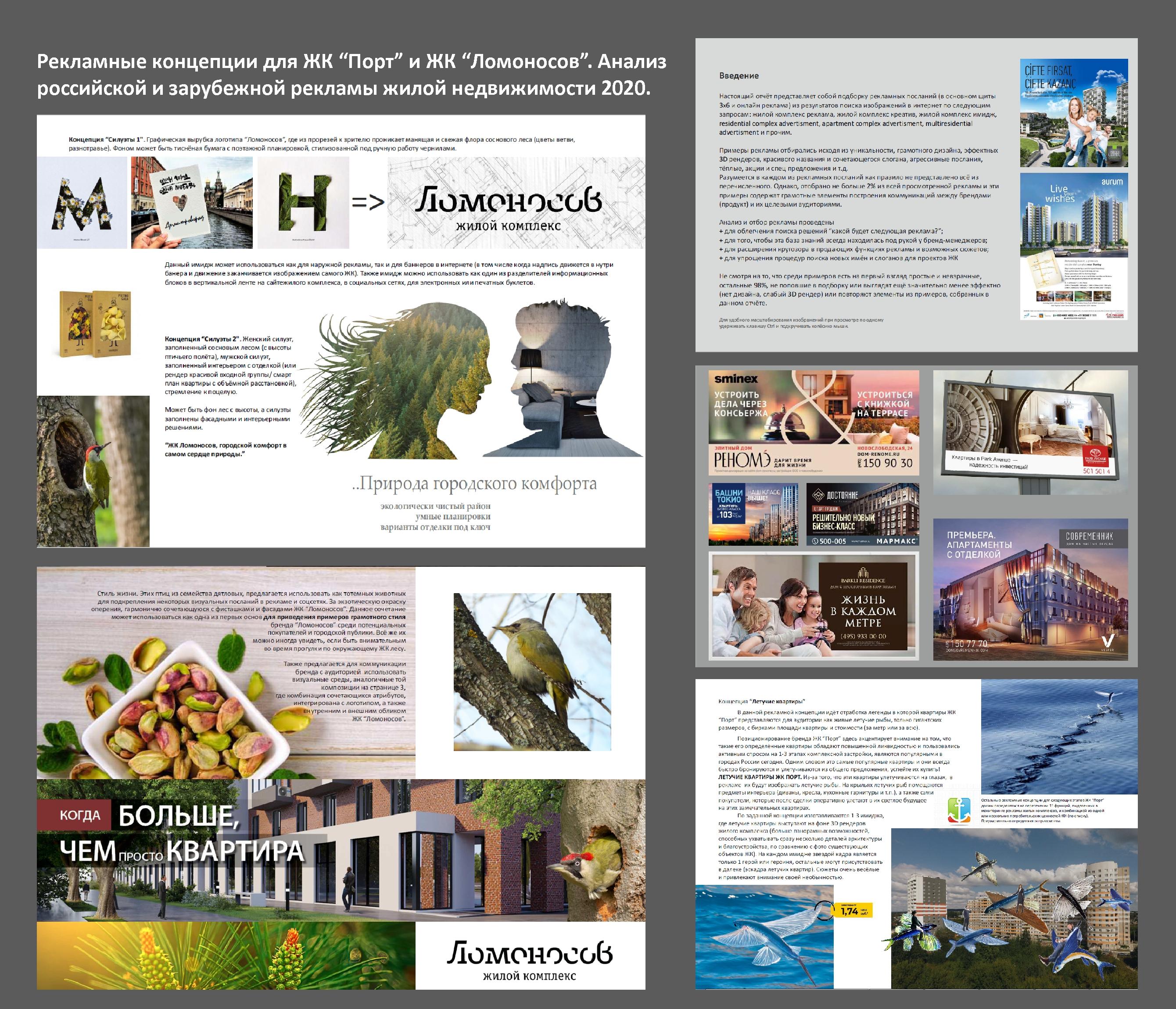 Анализ рекламы жилых комплексов 2020. Разработка концепций для рекламы жилых комплексов в г. Димитровград.