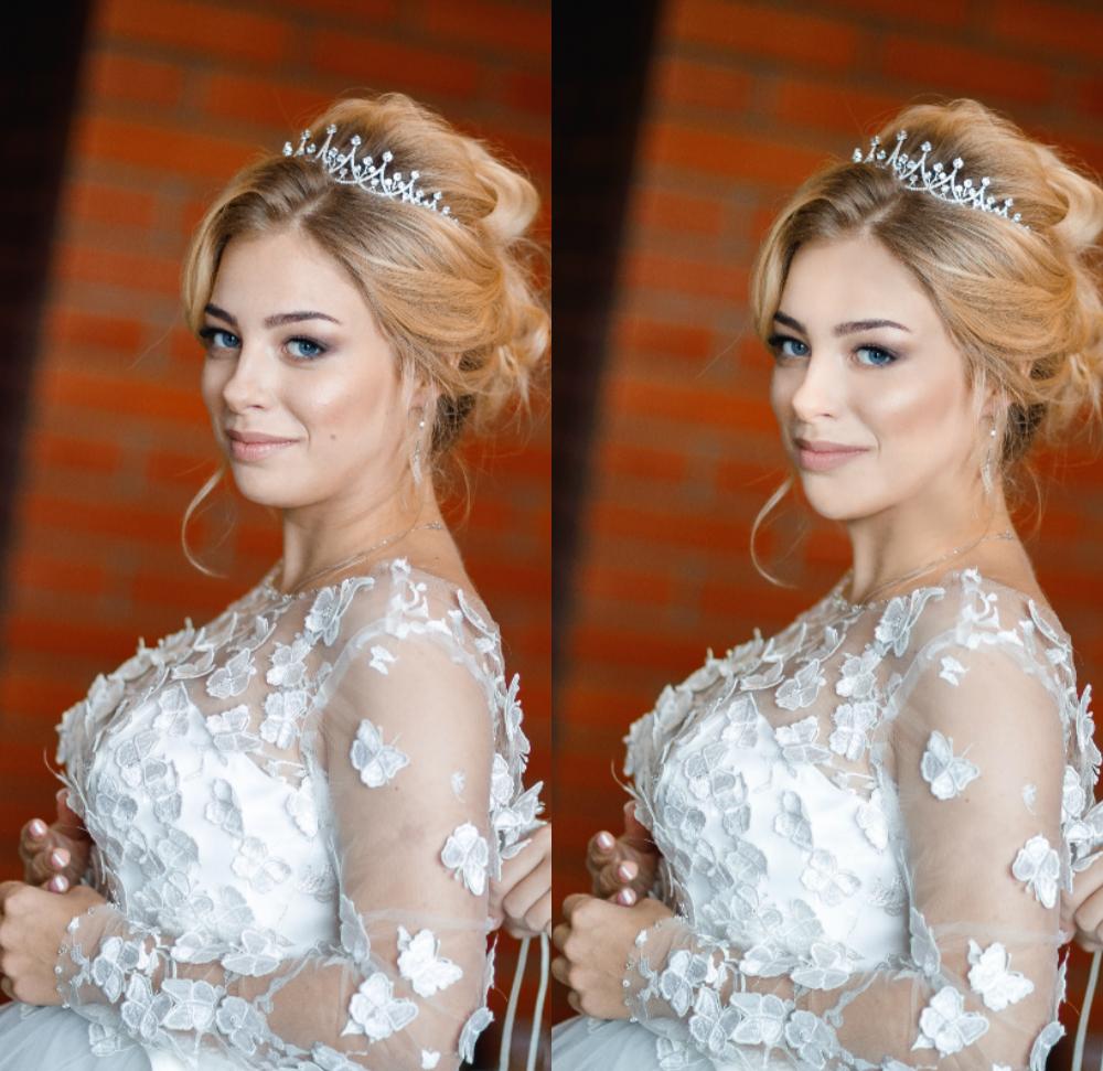 Техническая ретушь (свадебные фото)
