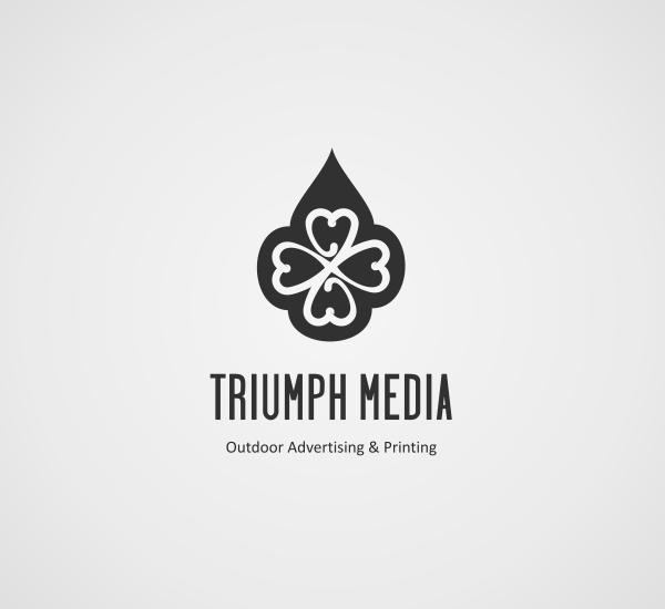 Разработка логотипа  TRIUMPH MEDIA с изображением клевера фото f_507940dfe5ef6.png