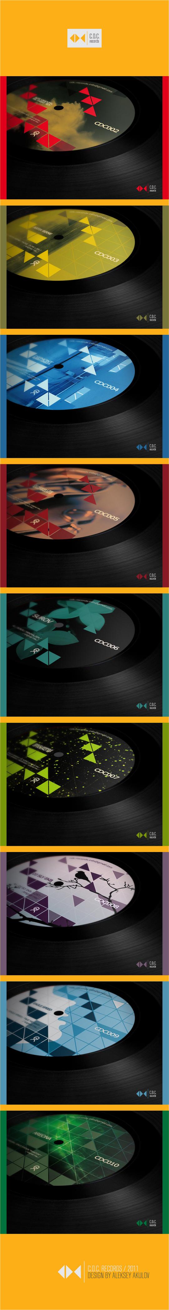 """Дизайн обложки (COVER), для релизов лейбла """"CDC"""" records"""
