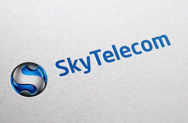 """Логотип компании """"SkyTelecom"""""""