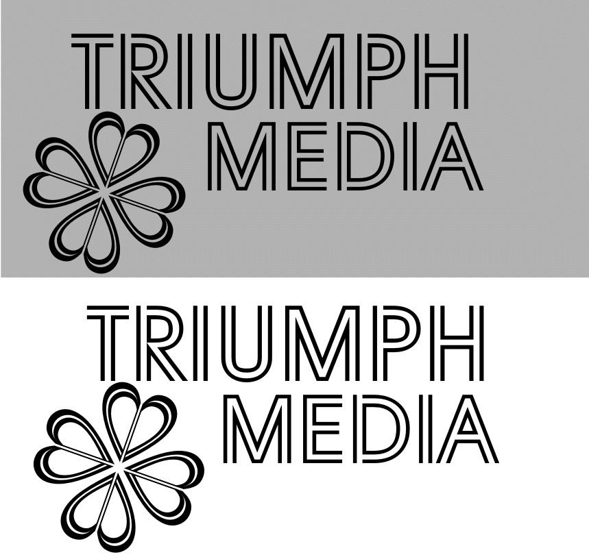 Разработка логотипа  TRIUMPH MEDIA с изображением клевера фото f_50752ff083e16.jpg