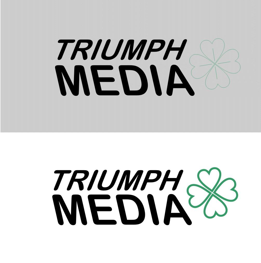 Разработка логотипа  TRIUMPH MEDIA с изображением клевера фото f_507901646de45.jpg