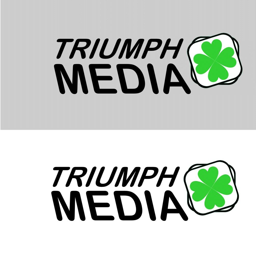 Разработка логотипа  TRIUMPH MEDIA с изображением клевера фото f_50790fb7f046a.jpg