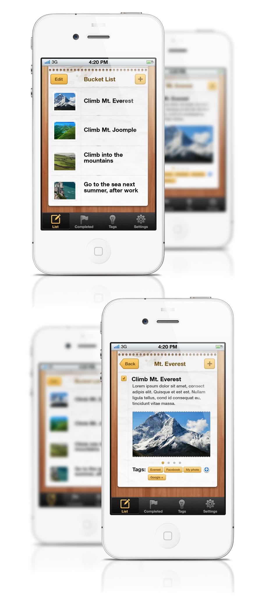 Bucket List iPhone App