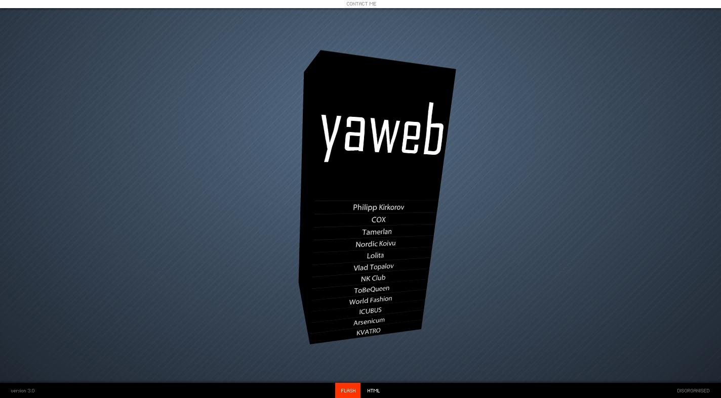 YAWEB сайт портфолио