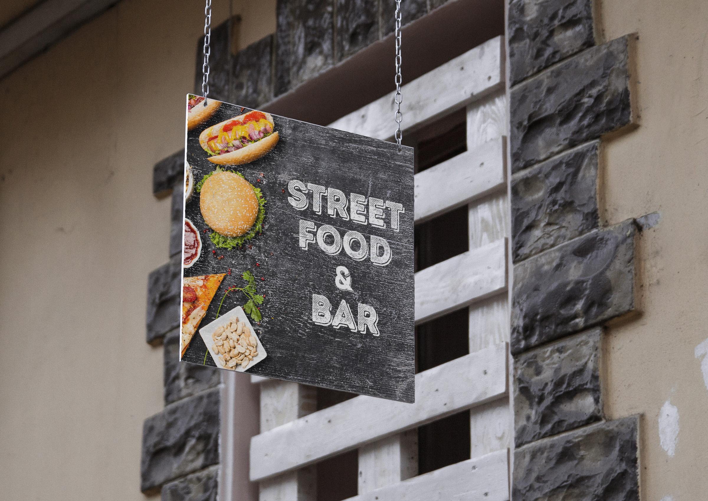 Вывеска для ресторана быстрого питания