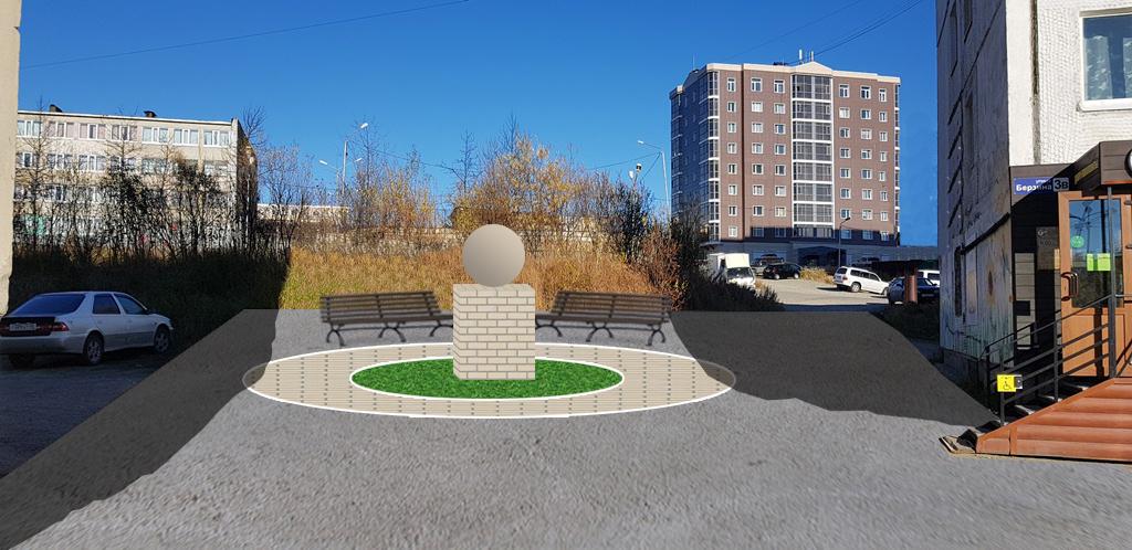 Проект по благоустройству  участка дворовой территории фото f_6595bbdfff0c351e.jpg