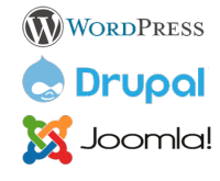 Wordpress, Drupal, Joomla