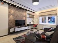 Дизайн гостиной в стиле лофт-бостон