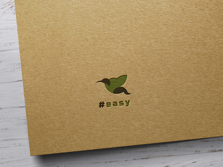 Разработка логотипа в виде хэштега #easy с зеленой колибри  фото f_0625d5139b1b1f07.jpg