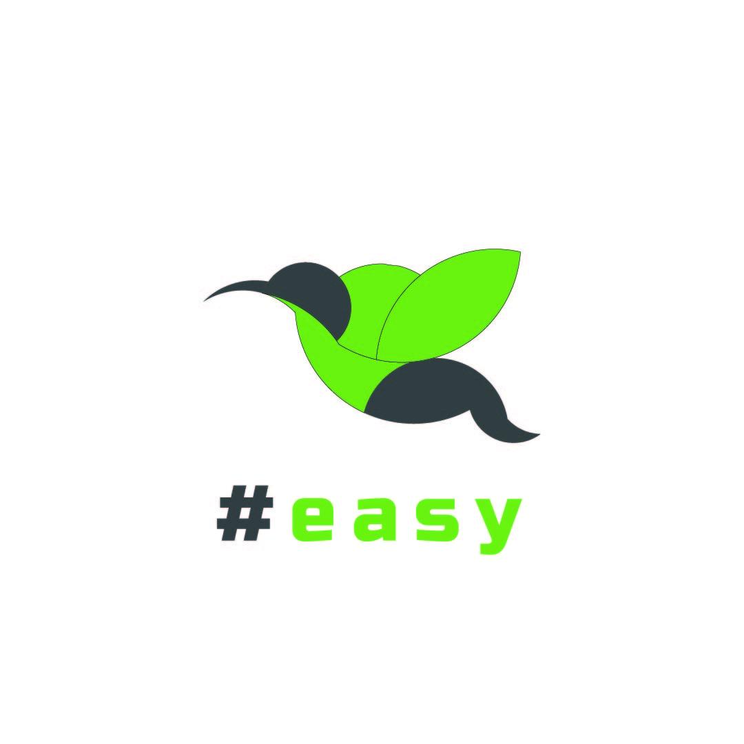 Разработка логотипа в виде хэштега #easy с зеленой колибри  фото f_9495d5138bb9fbbe.jpg