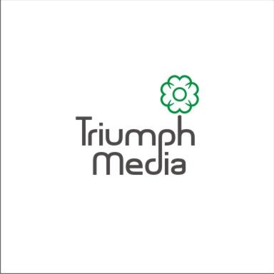 Разработка логотипа  TRIUMPH MEDIA с изображением клевера фото f_5072ebdd292b7.jpg