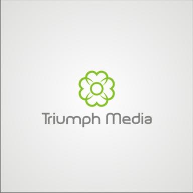 Разработка логотипа  TRIUMPH MEDIA с изображением клевера фото f_5072ecc0b71d1.jpg
