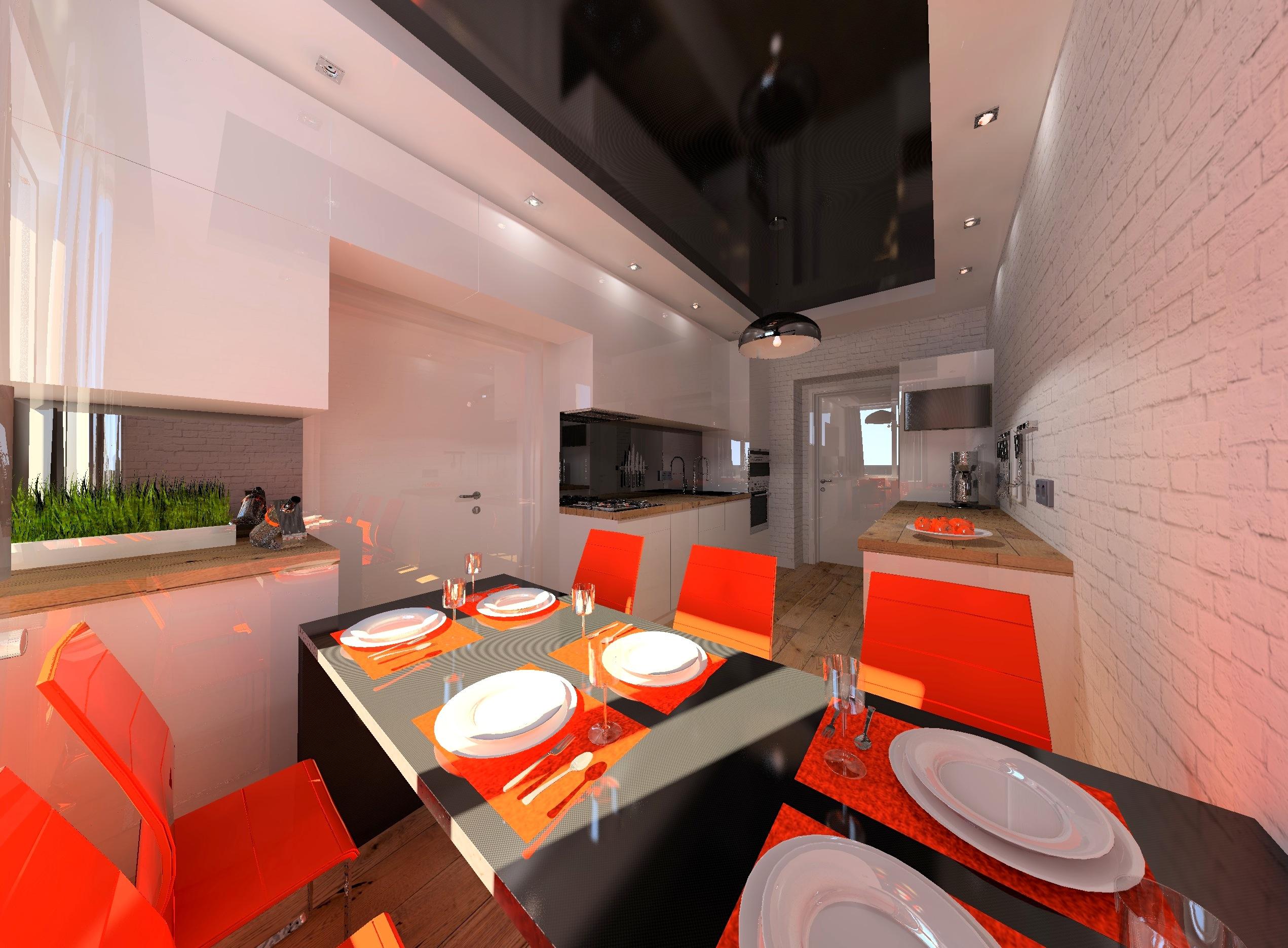 Дизайн проект интерьера первого уровня квартиры 69,9 м.кв. фото f_2235a577aeb5bb4d.jpg