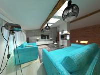 гостиная с элементами лофта
