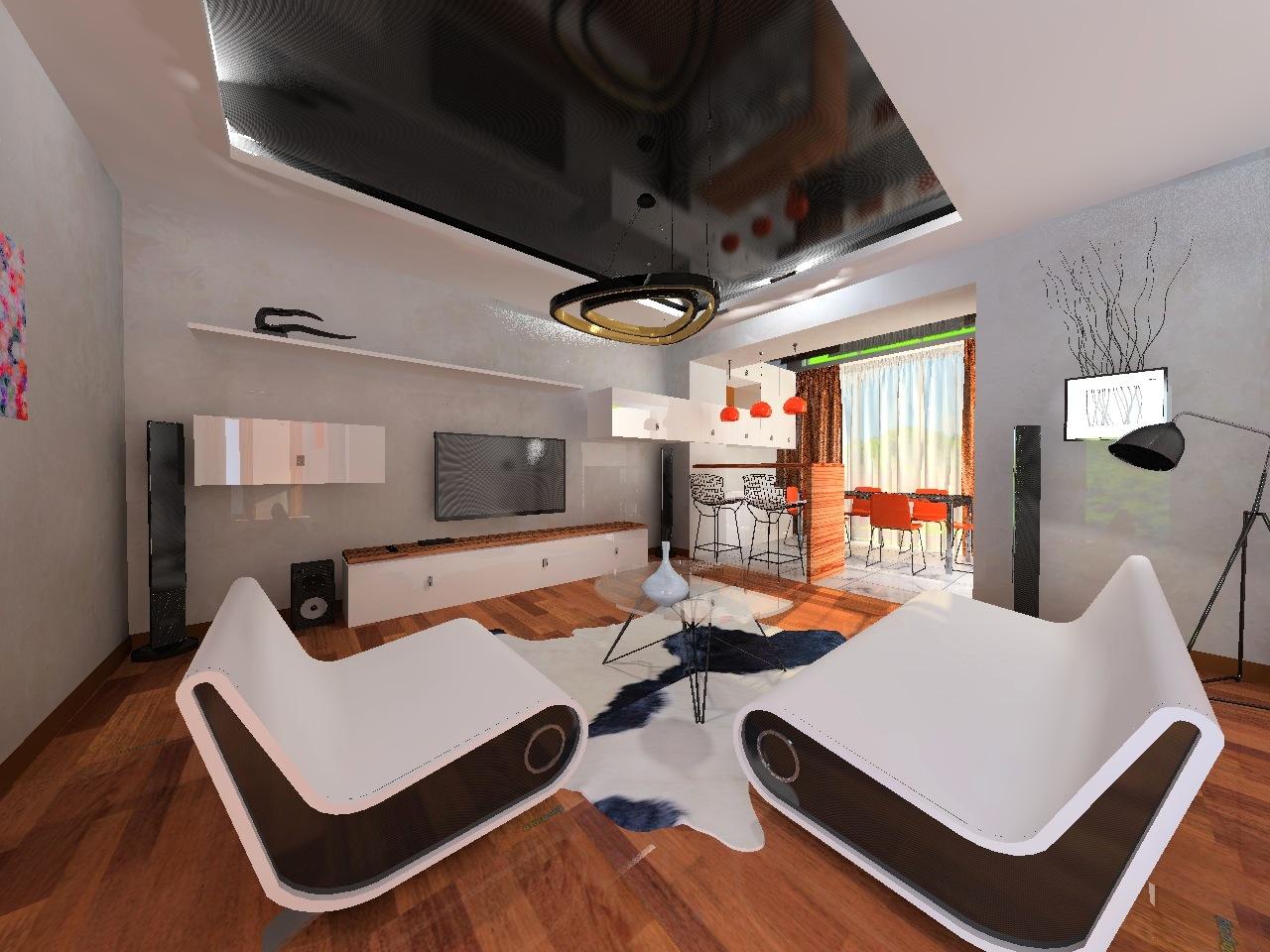 Дизайн проект интерьера первого уровня квартиры 69,9 м.кв. фото f_7035a577b037fb64.jpg