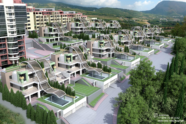 Проект усадебной жилой застройки