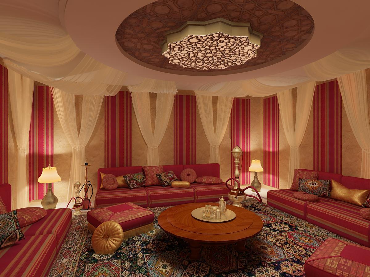 Современный интерьер в Египетском стиле.