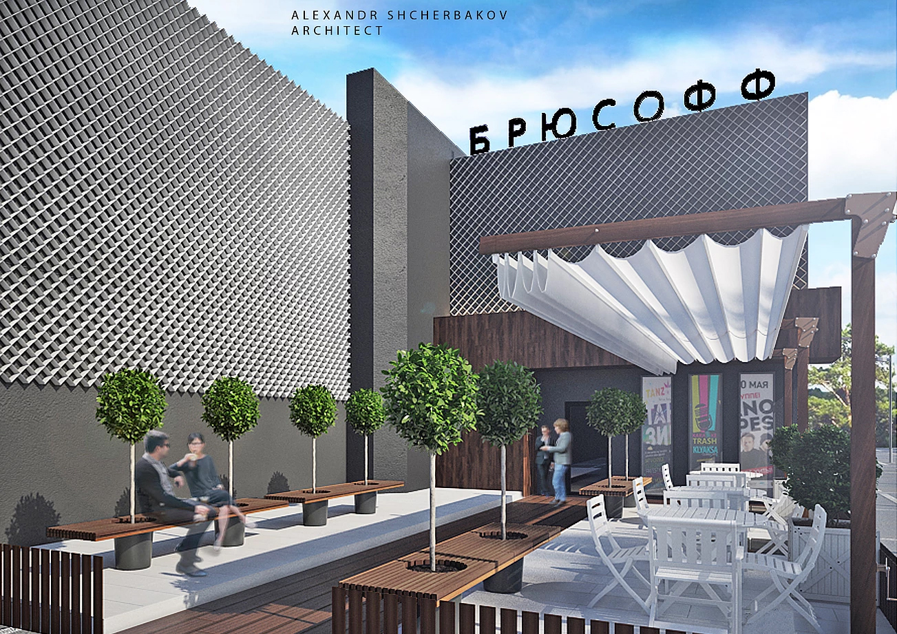 Реконструкция фасада ресторана