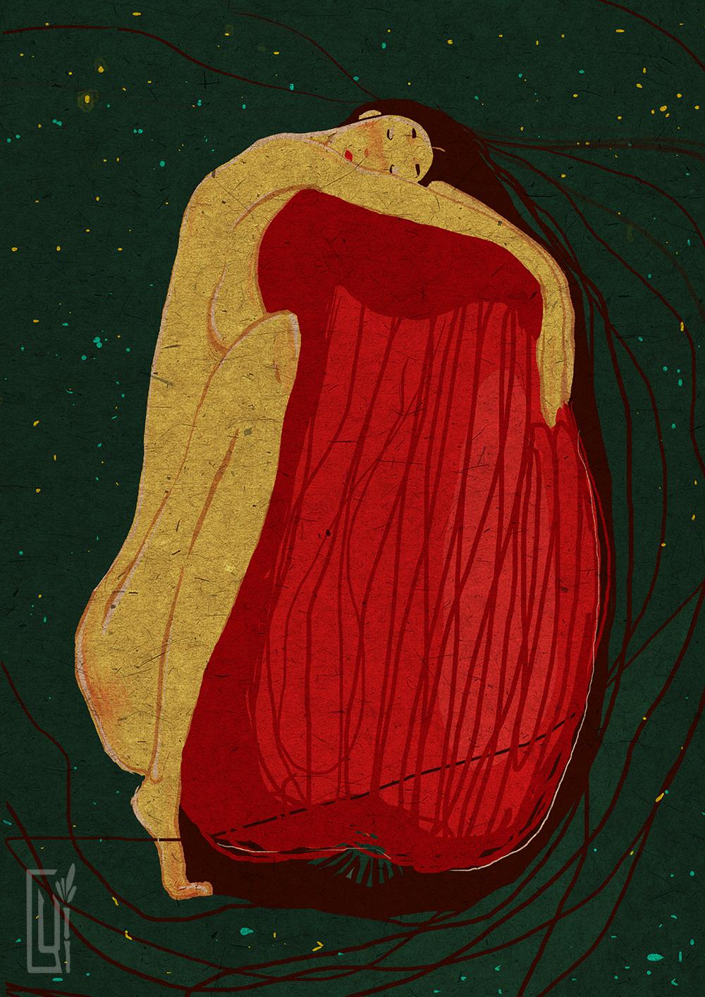 Иллюстрация для книги ( Ева и ночь)
