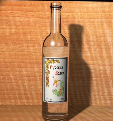бутылка водки вид1