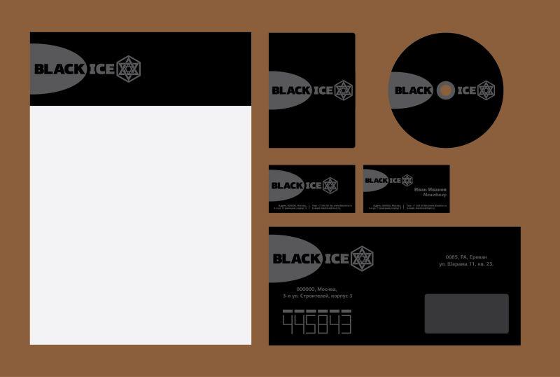 "Логотип + Фирменный стиль для компании ""BLACK ICE"" фото f_58156e92ebb00afd.jpg"