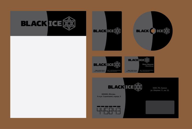 """Логотип + Фирменный стиль для компании """"BLACK ICE"""" фото f_58756e92eb602a17.jpg"""