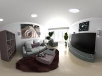 Панорамная визуализация интерьера (на 360 градусов)