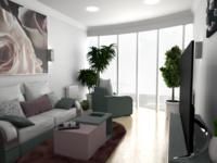 Визуализация интерьера одной комнаты