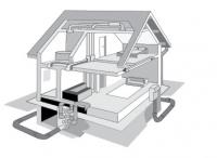 Нарисованный дом, вектор