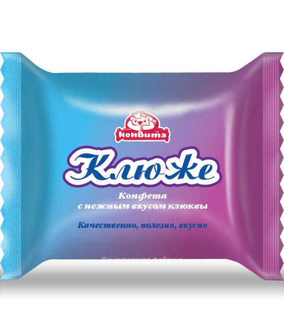 """""""Клюже"""" - дизайн упаковки для конфеты Кондитерской фабрики Конвита"""