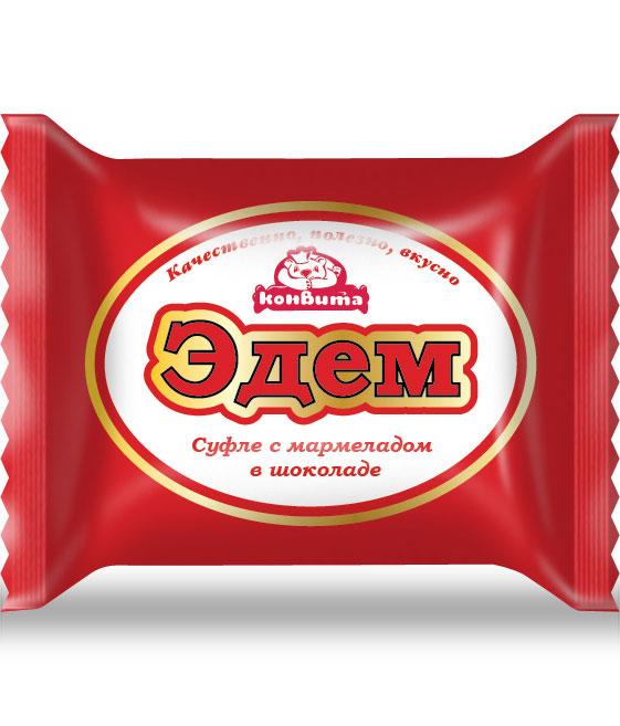 """""""Эдем"""" - дизайн упаковки для конфеты Кондитерской фабрики Конвита"""
