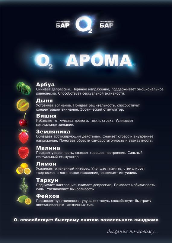 О2 кислородный бар-АРОМА (меню)