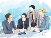 Бизнес иллюстрация высокого уровня