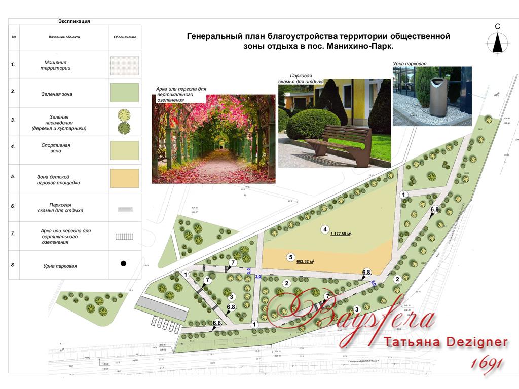 Генеральный план парка коттеджного поселка