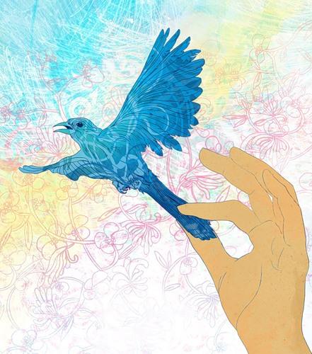 Поймать синюю птицу Горбаш Варвара varka на Revolance.ru.