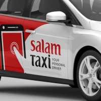 Branding & Books SALAM taxi company