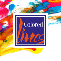 Branding project Colored lines