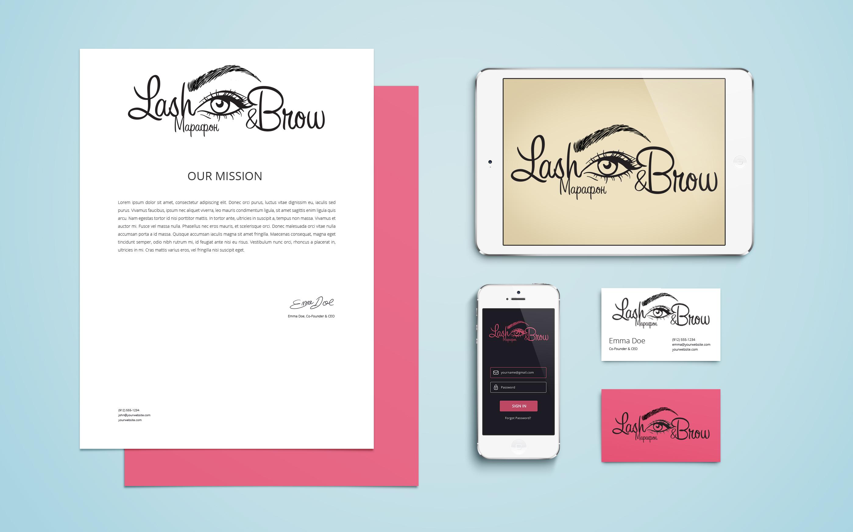 """Создание логотипа мероприятия """"Марафон Lash&Brow"""" фото f_44558f8b80939bb4.jpg"""