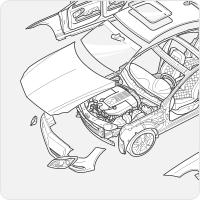 Взрыв-схема автомобиля